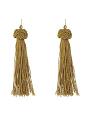 Basque - A69686BA/OLIVE Knot Just Another Tassel Earring