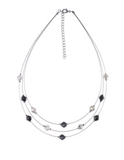 Trent Nathan - 440437 Floating Angular Beads Multistrand Wire Necklace