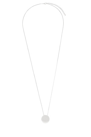 Basque - A66310BA Core Minimalist Solid Circle Pendant in Rhodium