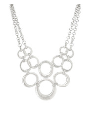 Trent Nathan - TN3ES17NL124 Hammered Open Discs Layered Collar Necklace