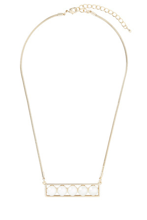 Wayne Cooper - WCGEW17NL83 Modern Pearl Sleek Pearl Bar Necklace