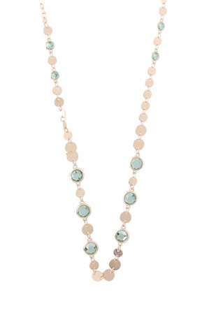 Trent Nathan - TNJHS18NL195 Disc and Stone Long Necklace