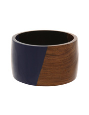 Basque - A69668BA Bohemian Wood And Resin Bangle