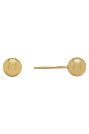 Von Treskow - Sterling Silver 6mm Yellow gold filled Ball Studs