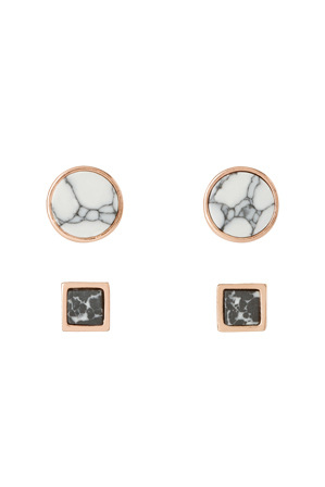 Peter Lang - EA6603 Marble Skies Cloud and Spectre Stud Earrings
