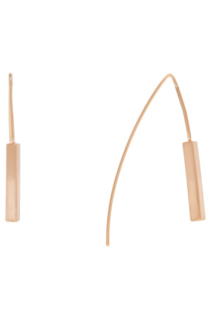 Peter Lang - EA6617 Linear 16 Kaia Earrings in Rose Gold