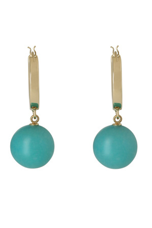 Peter Lang - EA6847 Versilia Champagne & Turquoise Earrings