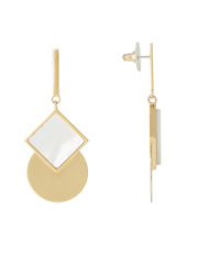 Peter Lang - EA6853W Messina White Champagne & Shell Earrings