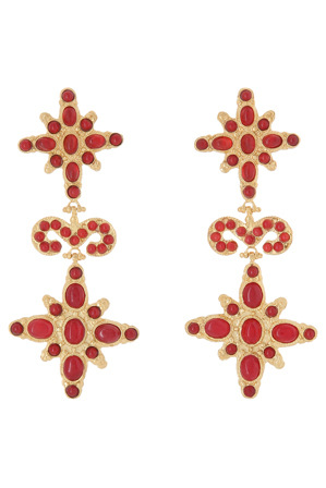 Christie Nicolaides - Elsa Earrings Red