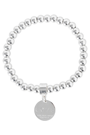 Love From Venus - 6mm Love Disc Stretch Ball Bracelet