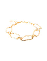 Fairley - SS282GP Alexa Hammered Link Bracelet in Gold