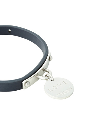 Love From Venus - LNBSVB Navy Leather Love Disc Silver Bracelet