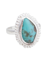 Fairley - SS460S Santorini Turquoise Ring in Silver