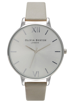 Olivia Burton - Big Dial Grey & Silver Watch