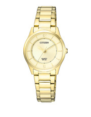 ER0203-85P  Stainless Steel Quartz Dress Watch in Gold