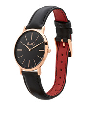 Rose & Coy - RCM0103 Mini Pinnacle Black And Rose Gold Watch