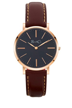 Rose & Coy - RCM0302 Mini Pinnacle Brown And Rose Gold Watch