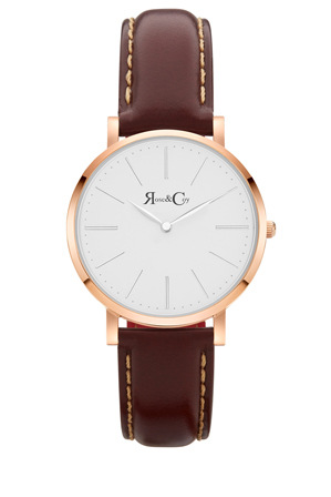 Rose & Coy - RCM0601 Mini Pinnacle Brown And Rose Gold Watch