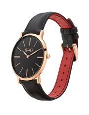 Rose & Coy - RC0103 Pinnacle Rose Gold And Black Watch