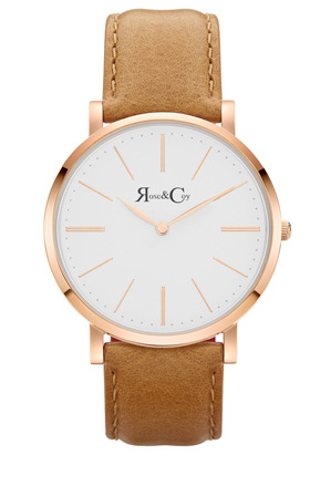 Rose & Coy - RC0401 Pinnacle Tan And Rose Gold Watch