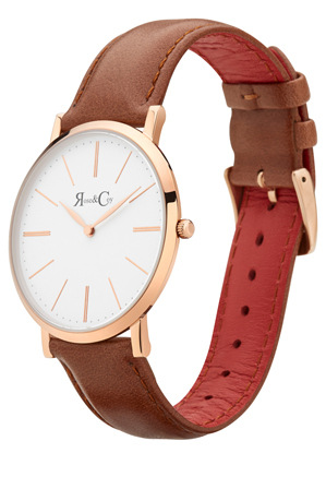 Rose & Coy - RC0501 Pinnacle Brown And Rose Gold Watch
