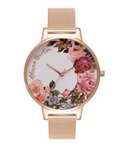 Olivia Burton - OB16ER10 Enchanted Garden Garden Rose And Gold Watch