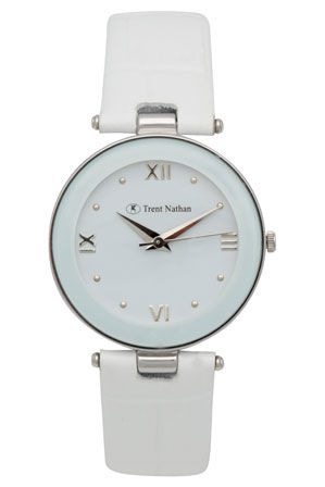 Trent Nathan - White Leather Watch TNL210L3