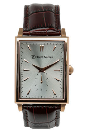 Trent Nathan - Rose Brown Strap Watch TN4S01G3