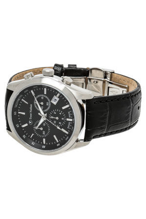 trent nathan swiss collection ts4s06g2 silver and black watch myer online category