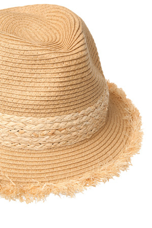 Gregory Ladner - Paper Braid Trilby with Plaited Raffia Band and Frayed Edge