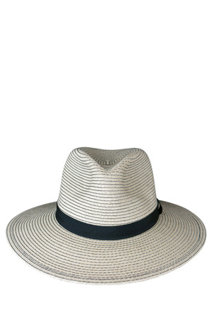 Morgan & Taylor - Braided Paper Fedora Contrast Stitch