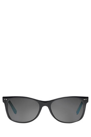 TOMS - 'BEACHMASTER' Black/Off White/Light Blue with Grey Lens