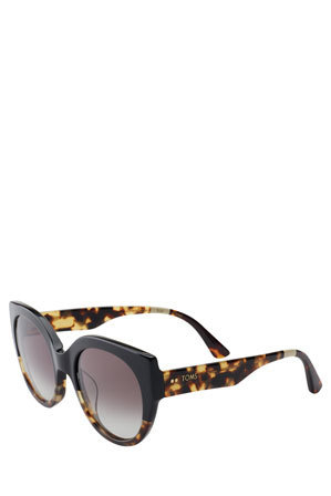 TOMS - 'LUISA' Black Tortoise/Whisky Tortoise with Grey Gradient Lens