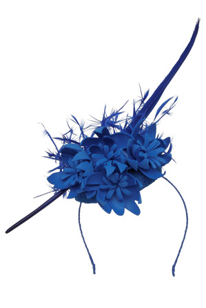 Kim Fletcher - Mini Button Hat With Feather