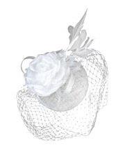 Morgan & Taylor - 'JAIMEE' Sinamay Beret with Loop Veiling & Flower