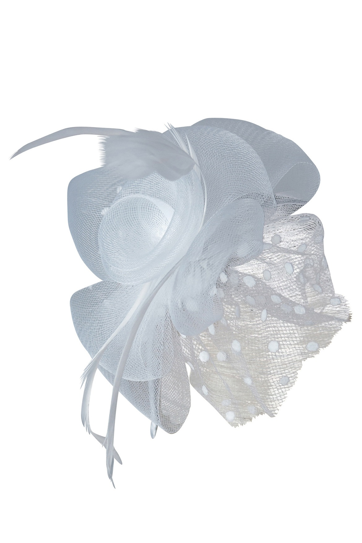 collection | crinoline fascinator with spot net & feathers | myer