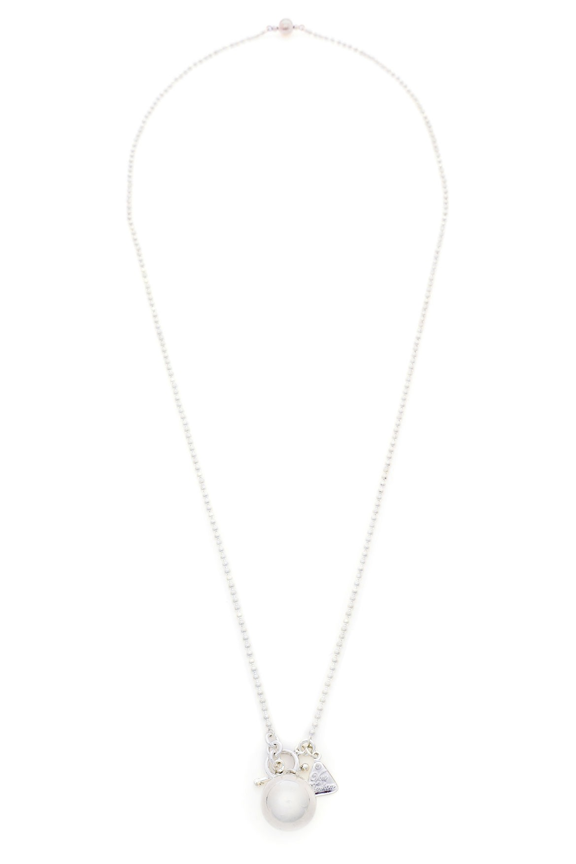 Von treskow sterling silver ball pendant necklace myer online aloadofball Image collections