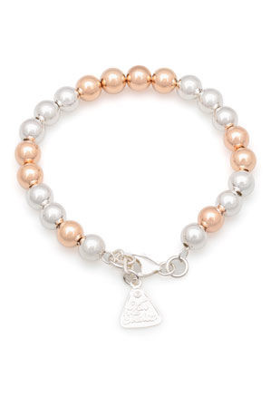 Von Treskow - Rose Gold Plated and Sterling Silver Ball Bead Bracelet