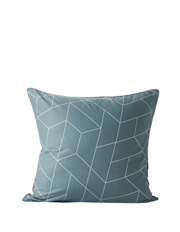 Aura by Tracie Ellis - Cos Quilt Cover Range in Silver Blue