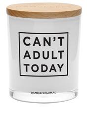 Damselfly - Can't Adult Today - XL Candle