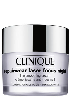 Clinique - Repairwear Laser Focus Night Line Smoothing Cream for Combination to Oily Skin