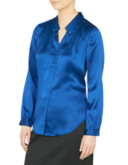 David Lawrence - Remi Stud Collar Silk Shirt