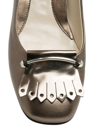 Innovare Made in Italy - Elsa Gunmetal Highshine and Nappa Loafer