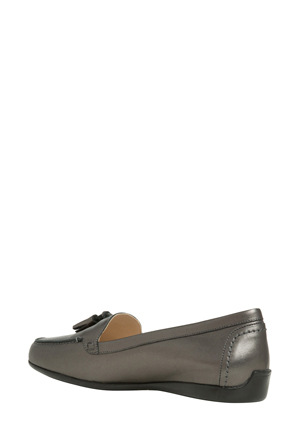 Innovare Made in Italy - Freya Gunmetal Leather Loafer