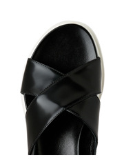 Innovare Made in Italy - Sampson Black Hi Shine Sandal
