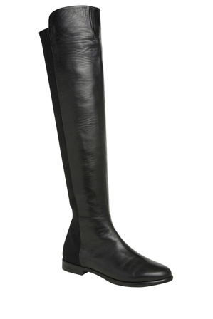 Innovare Made in Italy - Sarhys Black Leather Over The Knee Boot
