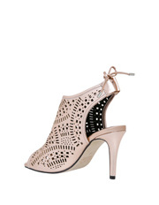 Wayne Cooper - Tempest Rose Gold Leather Sandal
