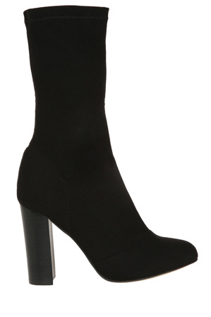 Wayne Cooper - Penelope Black Stretch Knit Boot
