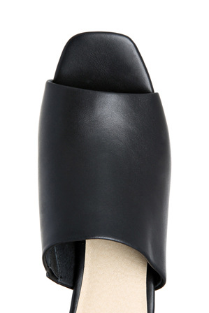 Nude Footwear - Ludlow Black Leather Sandal