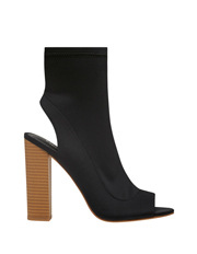 Lipstik - Glitch Black Lycra Boot